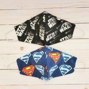 Face mask super hero superman star wars set 2